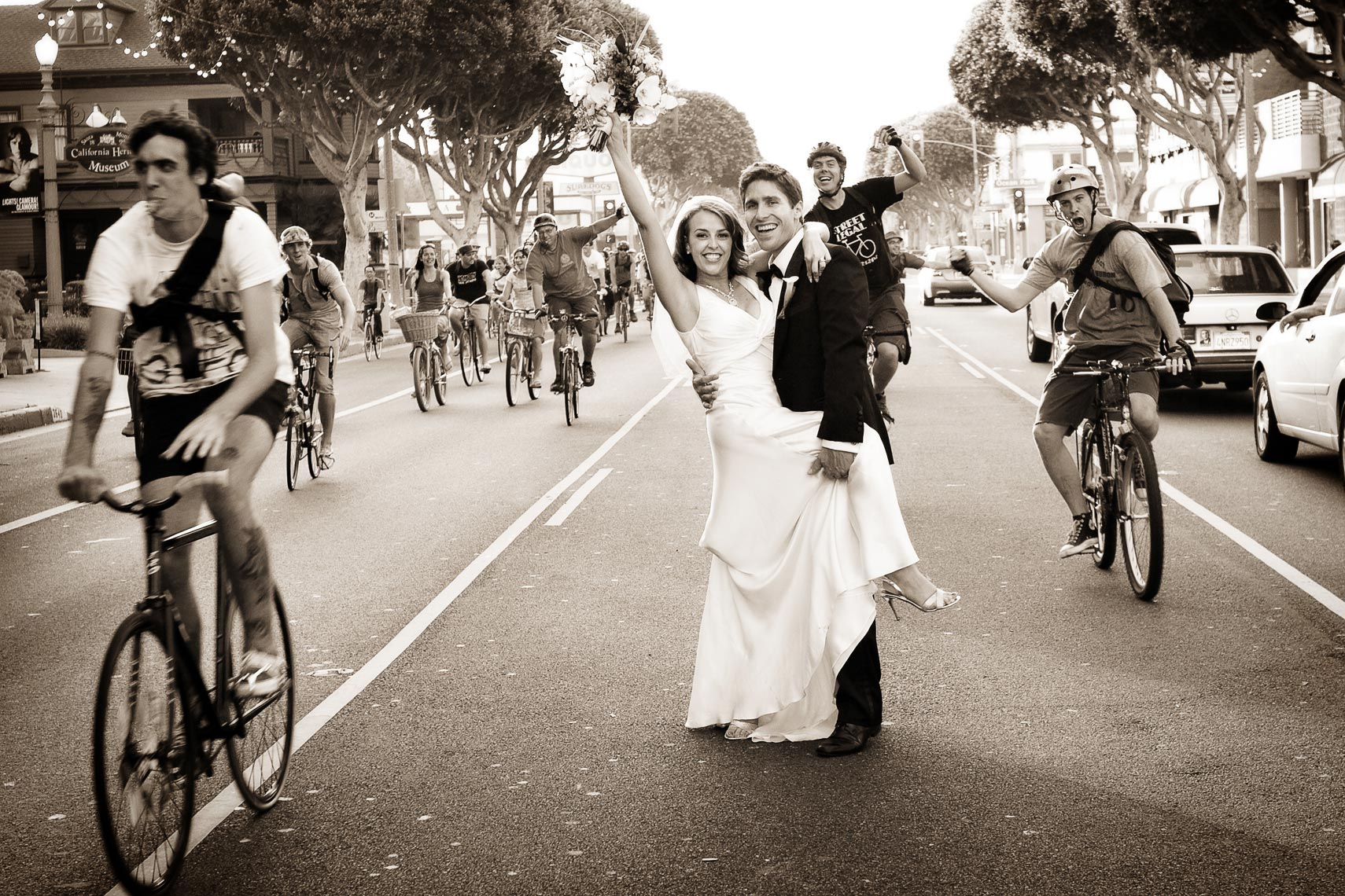 Santa Monica Bike Club Wedding